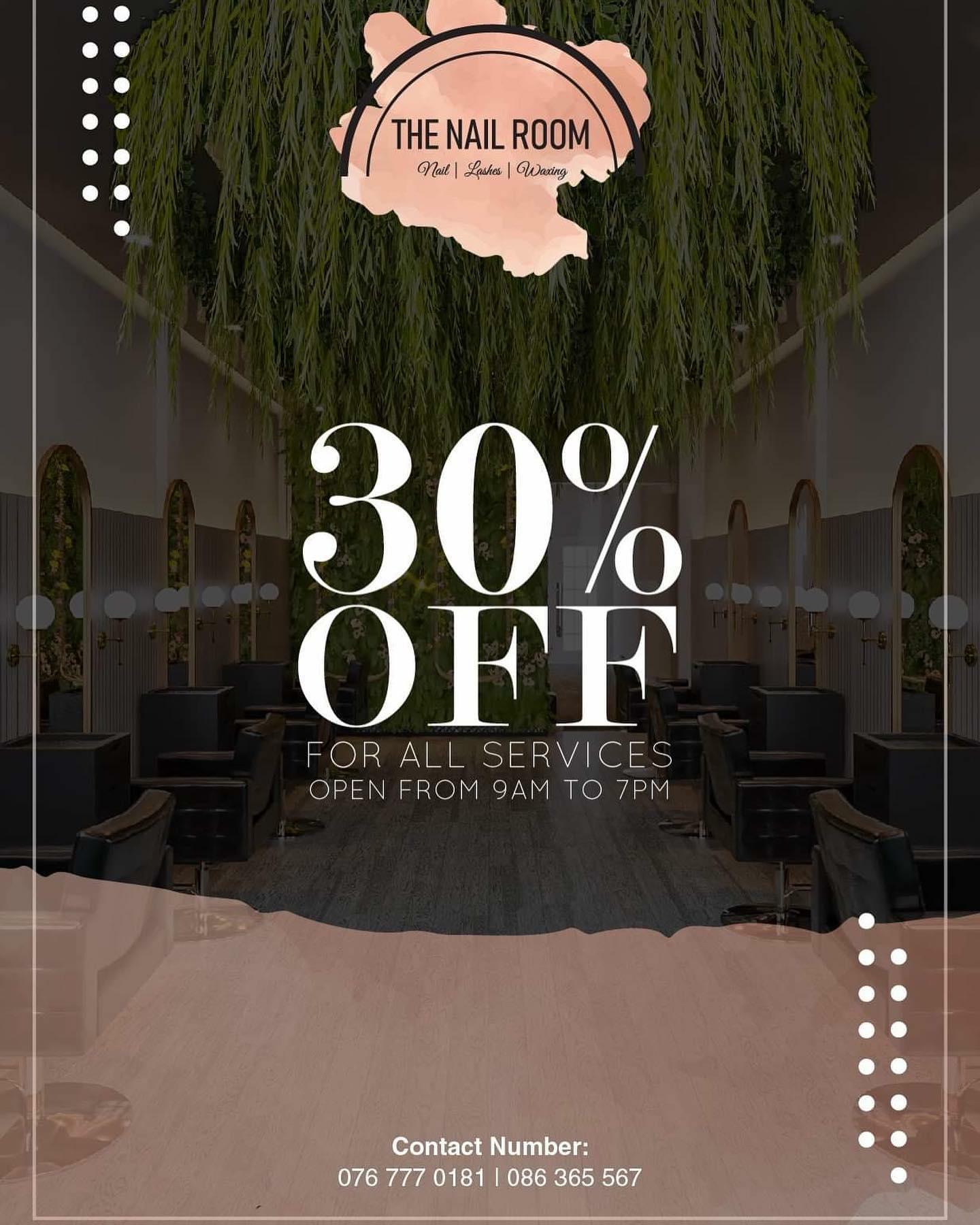 30% OFF ALL SERVICE