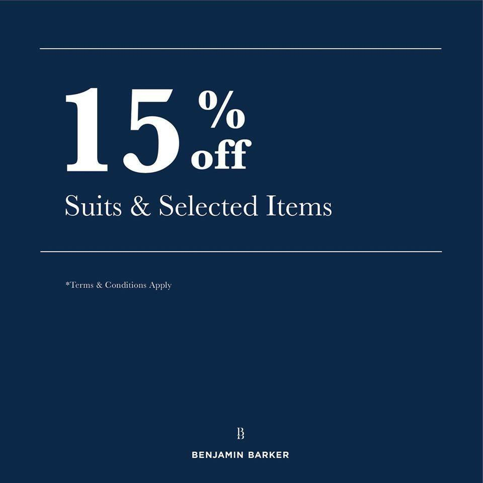 Benjamin Barker is offering 15%